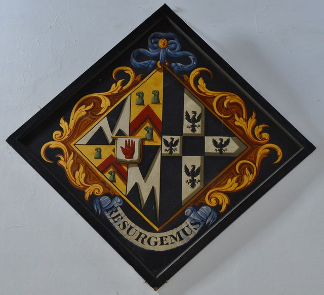 Breamore, St. Mary's Church: One of the many hatchments