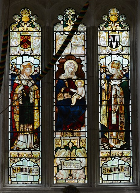 Breamore, St. Mary's Church: Stained glass window