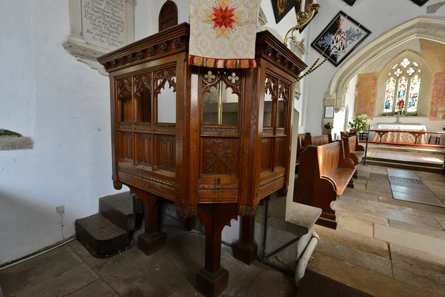 Breamore, St. Mary's Church: The pulpit