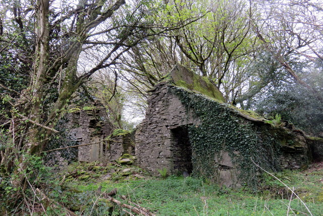 Another look at the ruin of  Panteg farm