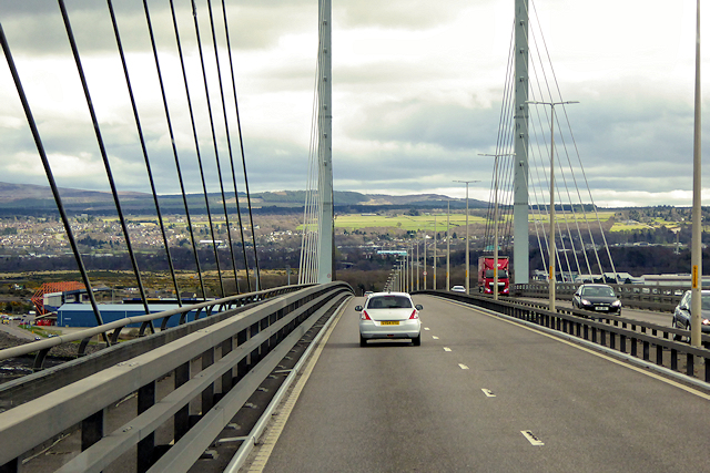 Heading South on the Kessock Bridge
