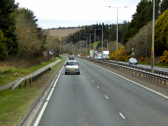 Northbound A9 near North Kessock