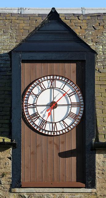A clock at Galashiels Golf Club