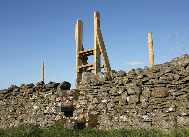 A wooden stile on Blaikie's Hill