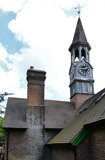 High Beeches Garden: Tearoom clocktower