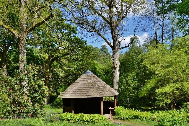 High Beeches Garden: The Millennium Shelter