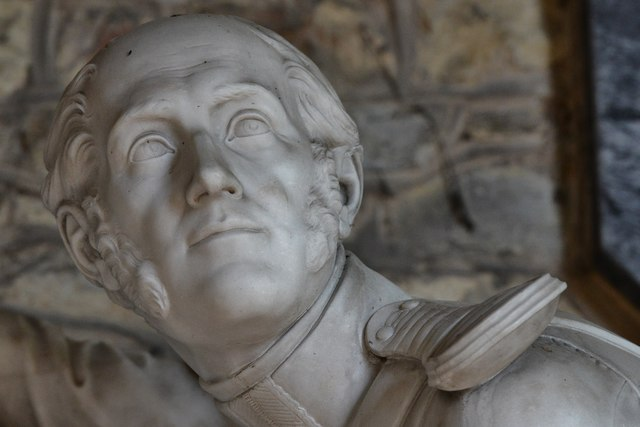 Gaddesby, St. Luke's Church: The memorial to Colonel Edward Cheney (d. 1848) 2