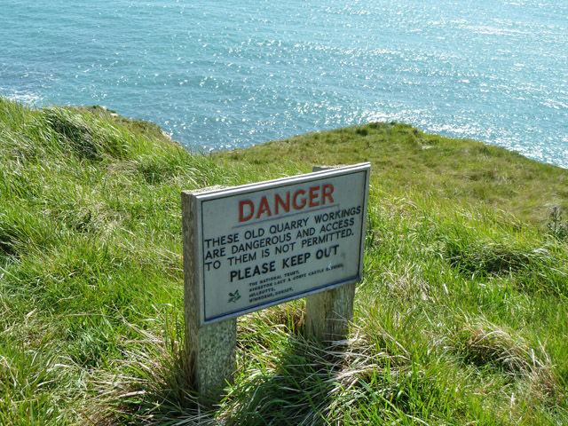 Warning sign, Seacombe