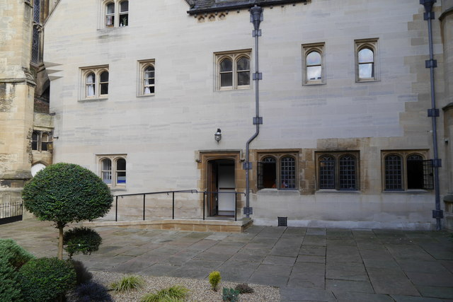 Chaplain's Quad and entrance of New Room, Magdalen College