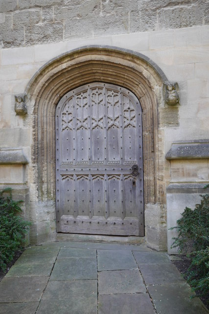 Door into the Great Tower, Magdalen College, from Chaplain's Quad