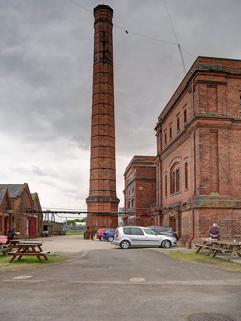 Claymills Victorian Sewage Pumping Station, Yard and Chimney