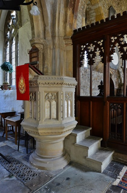 Gaddesby, St. Luke's Church: The pulpit