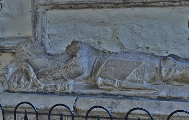Gaddesby, St. Luke's Church: Effigy of an unknown knight
