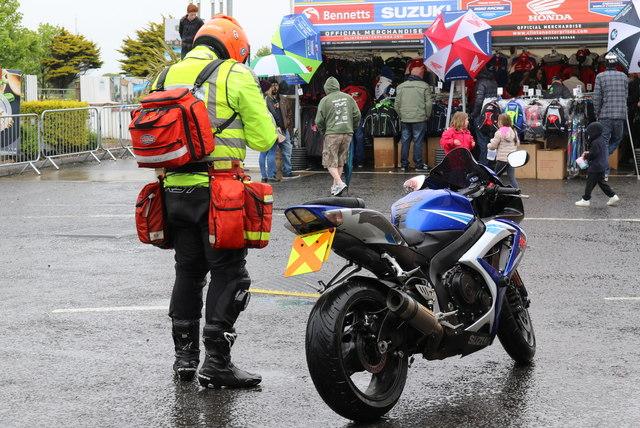 Paramedic, paraphernalia, and bike