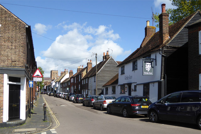 Sopwell Lane with the White Lion, St Albans