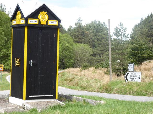 AA Box 753, Glen Dye road junction