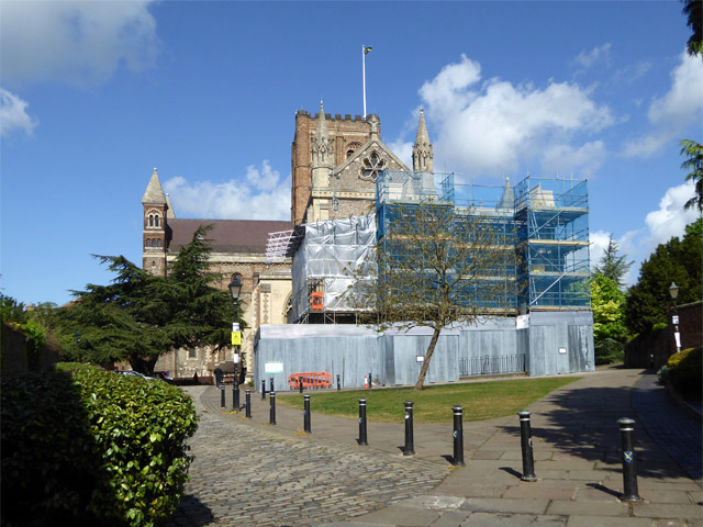 East end of St Albans cathedral