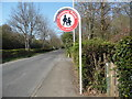SU9296 : Crossing Point Sign near Penn Street by David Hillas