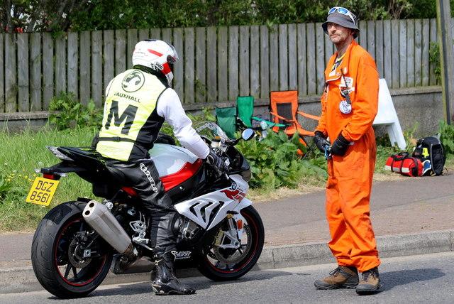 Safety men at the Northwest 200