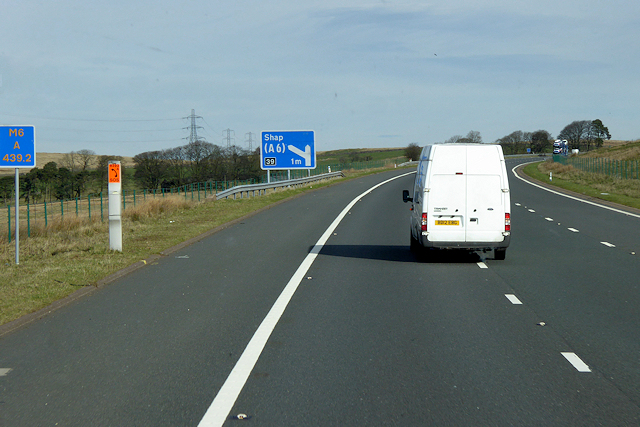 Northbound M6 Approaching Shap
