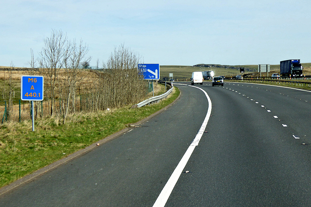 Northbound M6, Shap