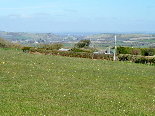 View towards Corfe Castle