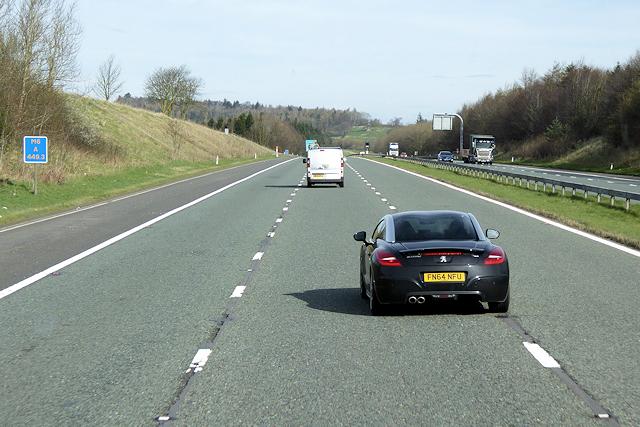 Northbound M6 near Thrimby