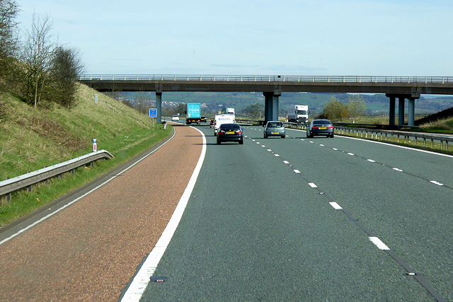 A6 Crossing the Northbound M6 near Hackthorpe Hall