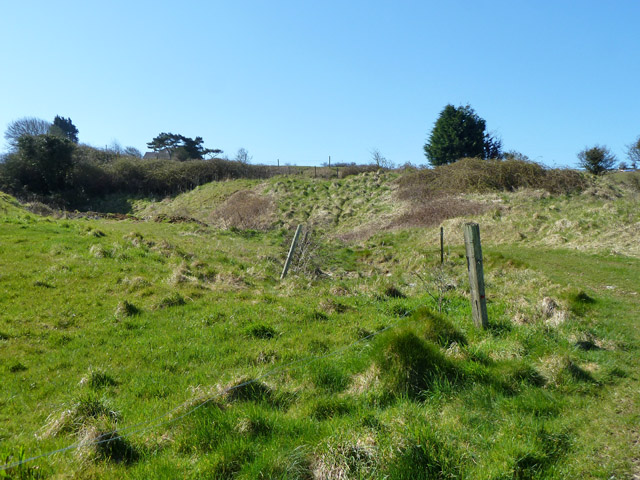 Old stone quarry near Langton Matravers