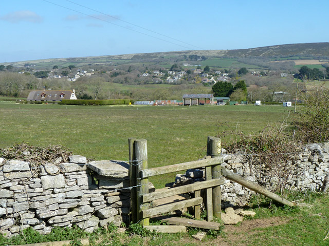 View north from stile