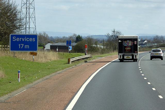 Southbound M6, North of Penrith