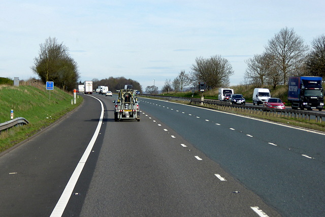 Northbound M6 near Plumpton