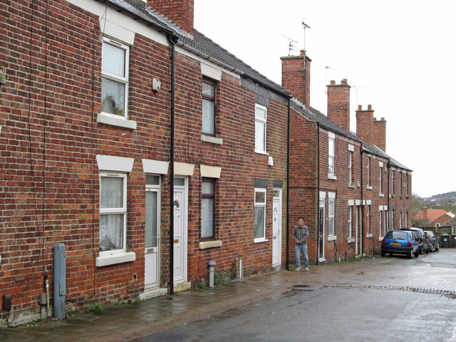 Stanton Hill - terraced housing on Cross Row