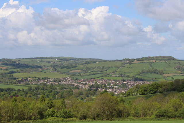 View of Winchcombe from Sudeley Hill