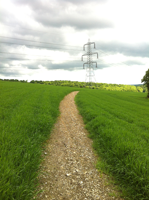 Footpath from Buriton to Chalton