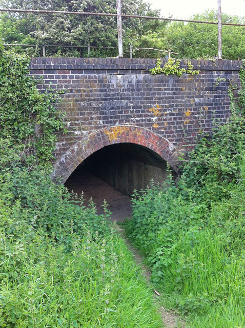 Foot creep under railway line