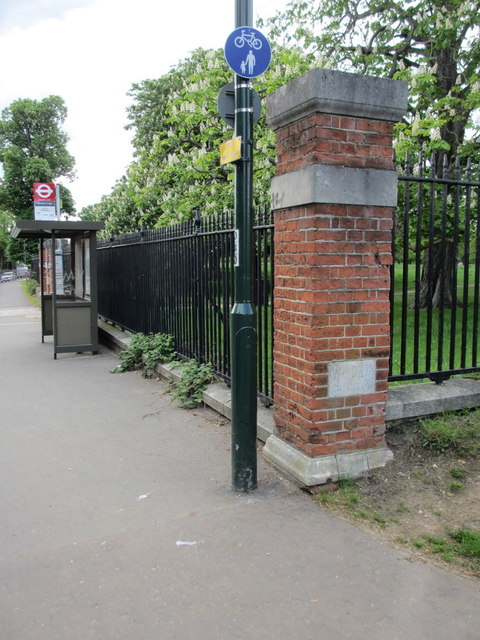 Barracks Gate pillar and boundary stone