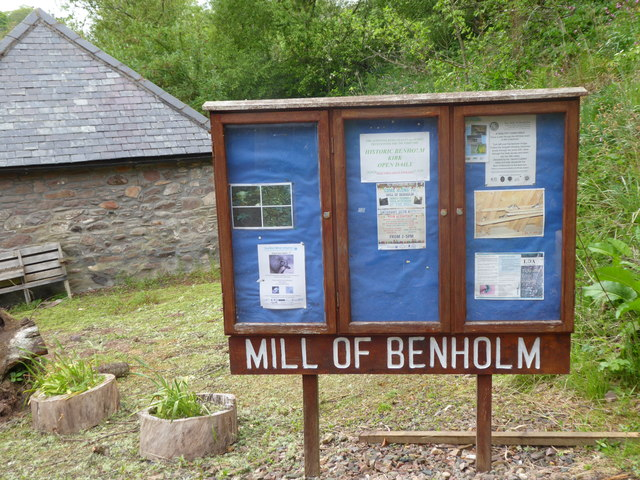 Mill of Benholm notice board