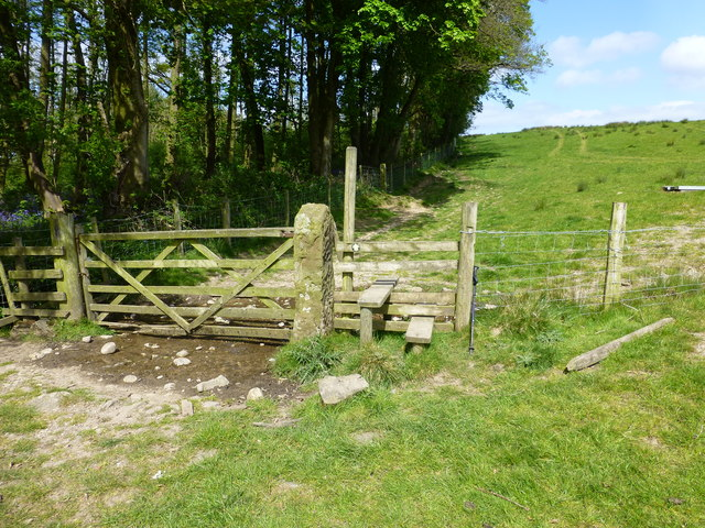 Stile on path to Whitewell