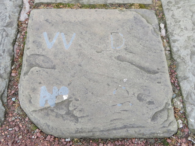 War Department boundary stone #2 at Chester Castle