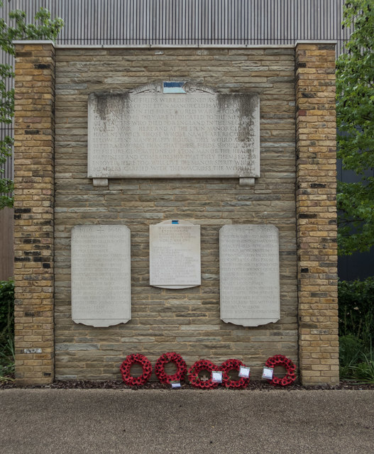 Eton Manor Club War Memorial, Olympic Park, Stratford