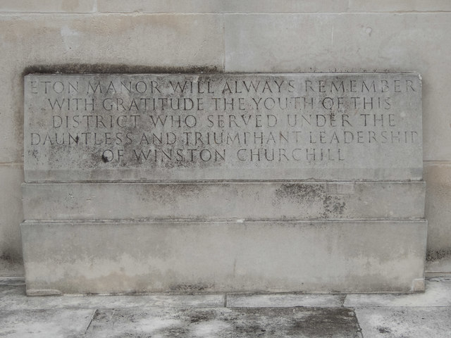 Eton Manor Memorial Plaque, Olympic Park, Stratford