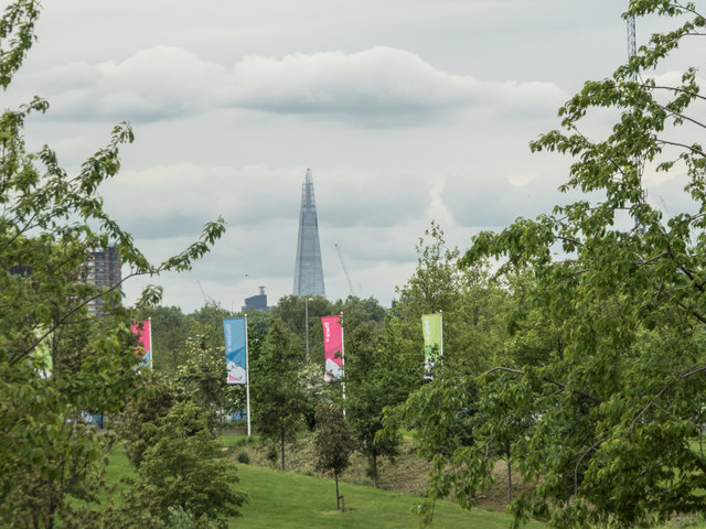 View of the Shard from the Olympic Park, Stratford
