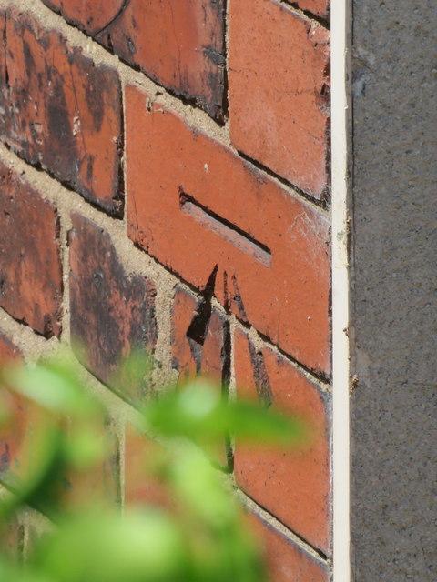 Bench mark on #28 Hawarden Road, Hope