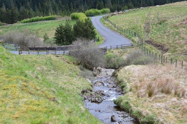 Whiteyaud Burn and the Ettrick Head road