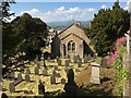 SH8076 : Church yard Glan Conwy on an early summers day by Richard Hoare