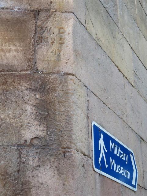 Chester Castle Barracks War Department boundary stone #5