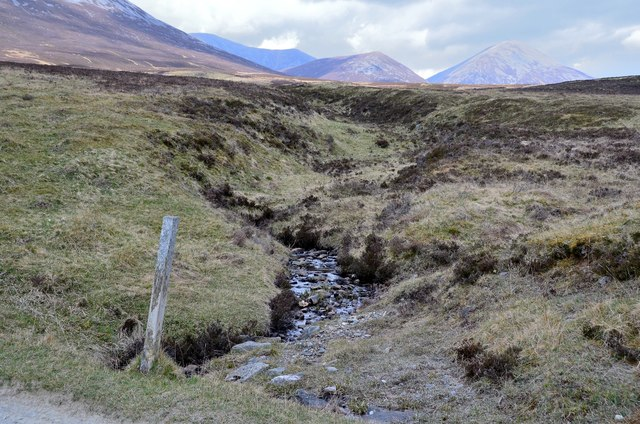Unnamed burn below Carn Liath