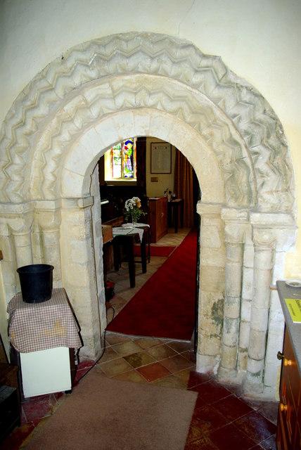 North doorway to St Peter's Church