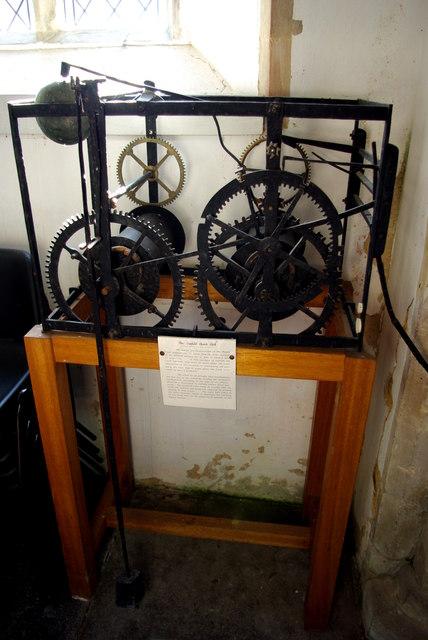 Cratfield church clock